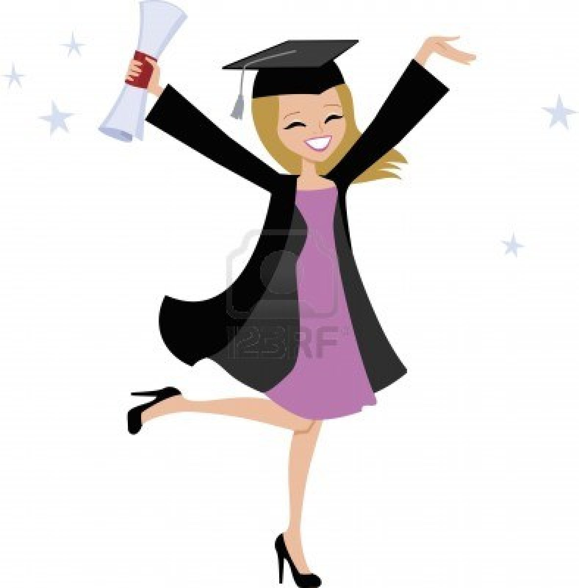 Graduation clipart woman. Free girl cliparts download