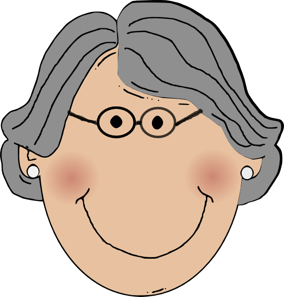 Kind clipart grandma. Clip art at clker