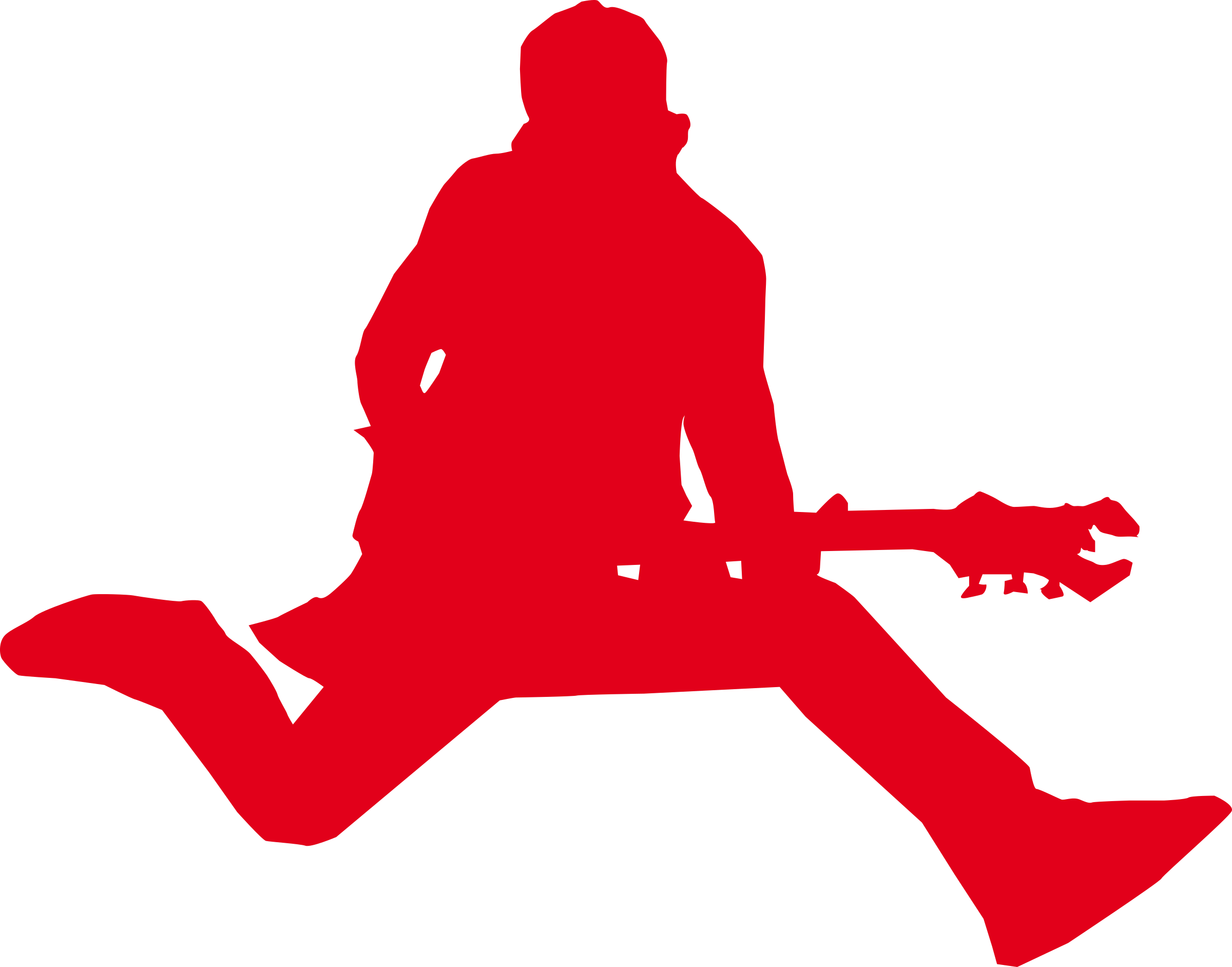 Star with guitar big. Clipart rock svg