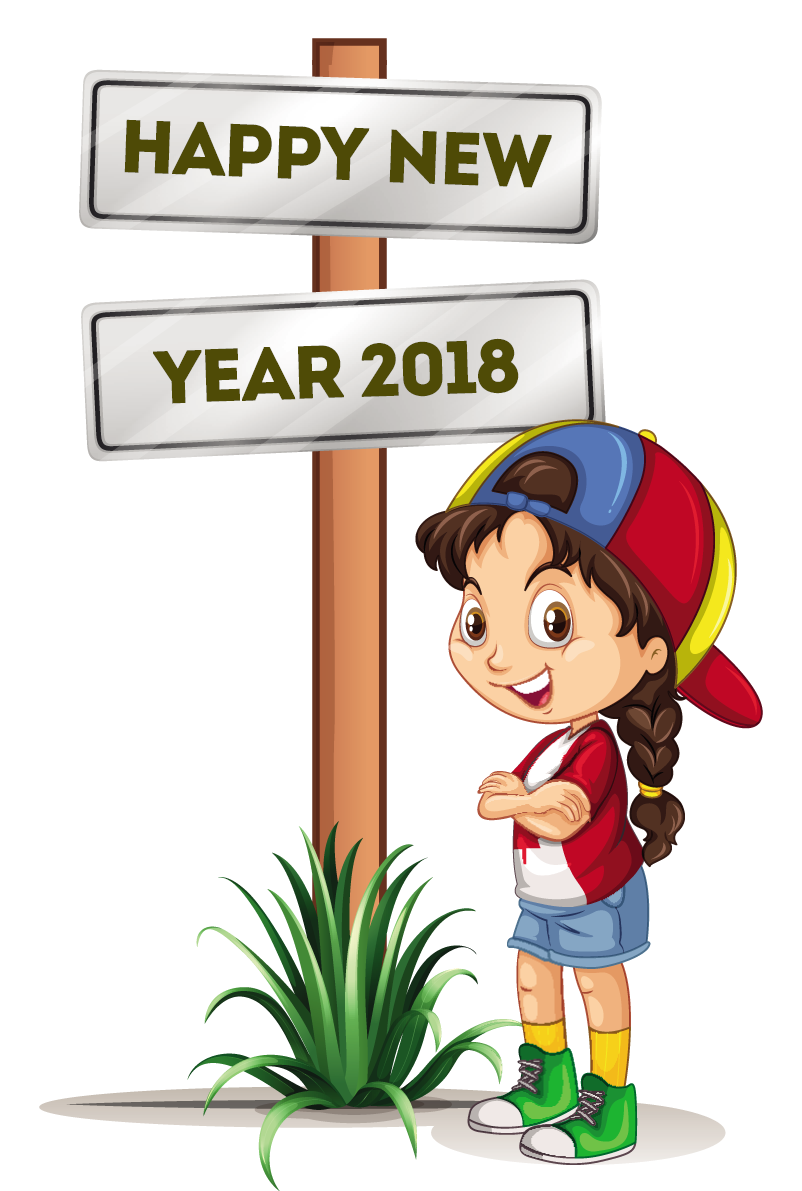 Happy new year clip. Pocket clipart vector