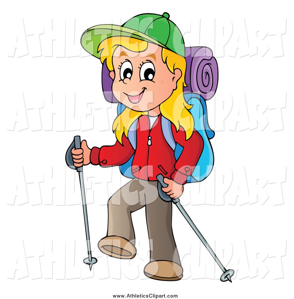 Clip art of a. Hike clipart female hiker