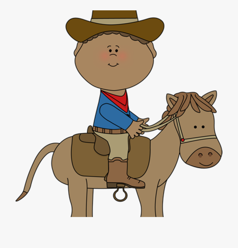 Clipart horse cowboy. Banner freeuse library on