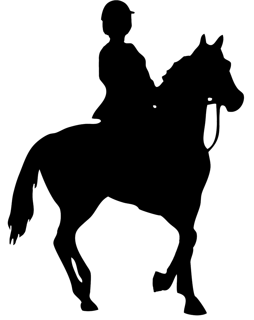 collection of black. Girls clipart horseback riding