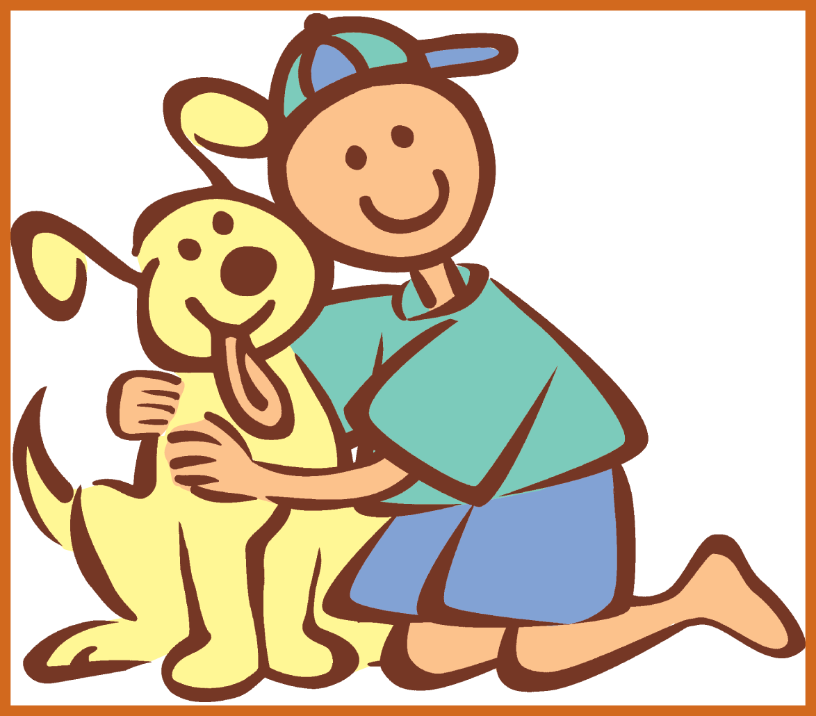 The best girl hugging. Pet clipart hug dog