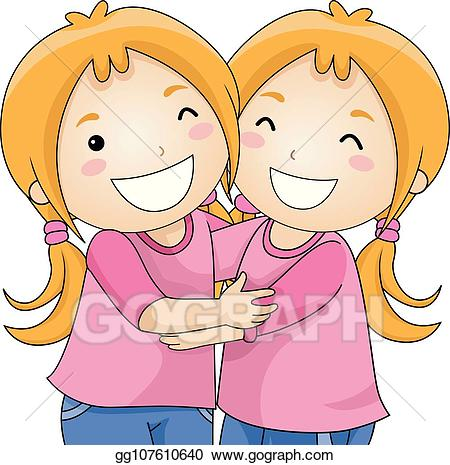 Hug clipart kid. Vector stock kids girls