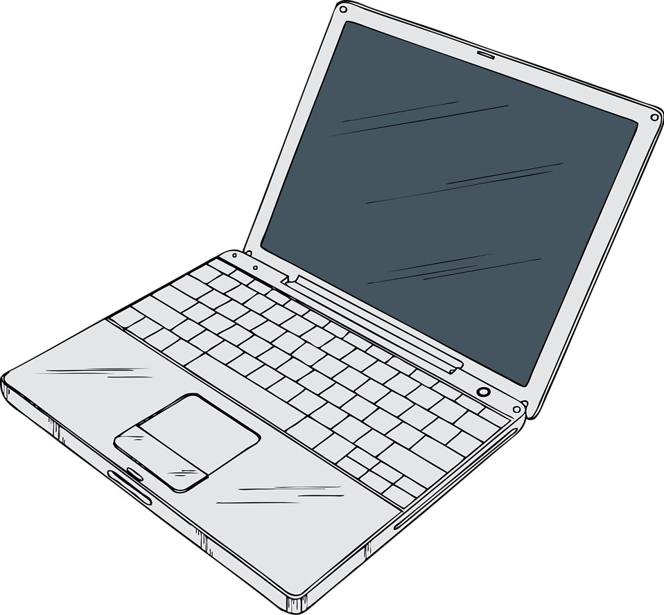 Laptop free stock photo. Notebook clipart outline