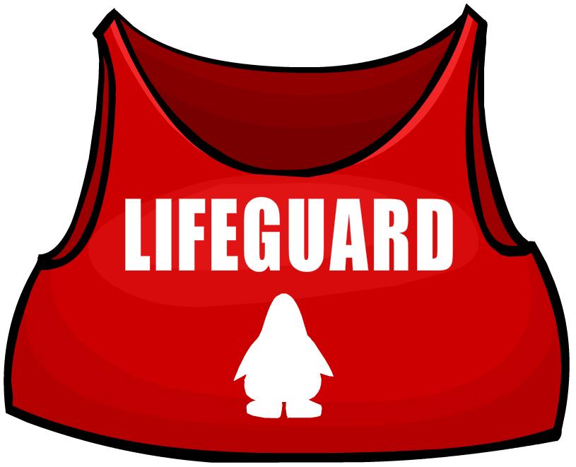 Lifeguard club penguin wiki. Clipart shirt red vest