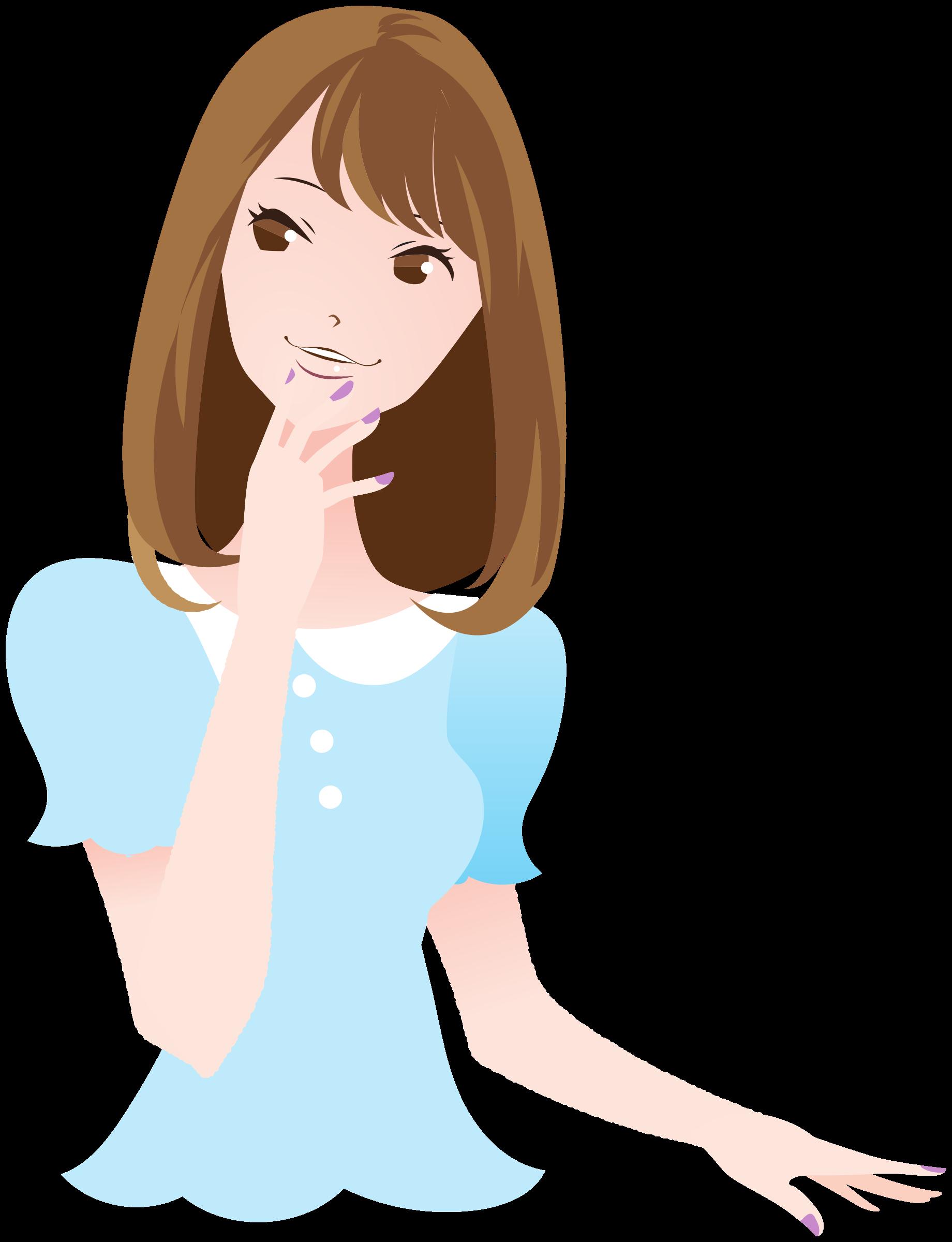 Clipart girl long hair. Beautiful woman big image