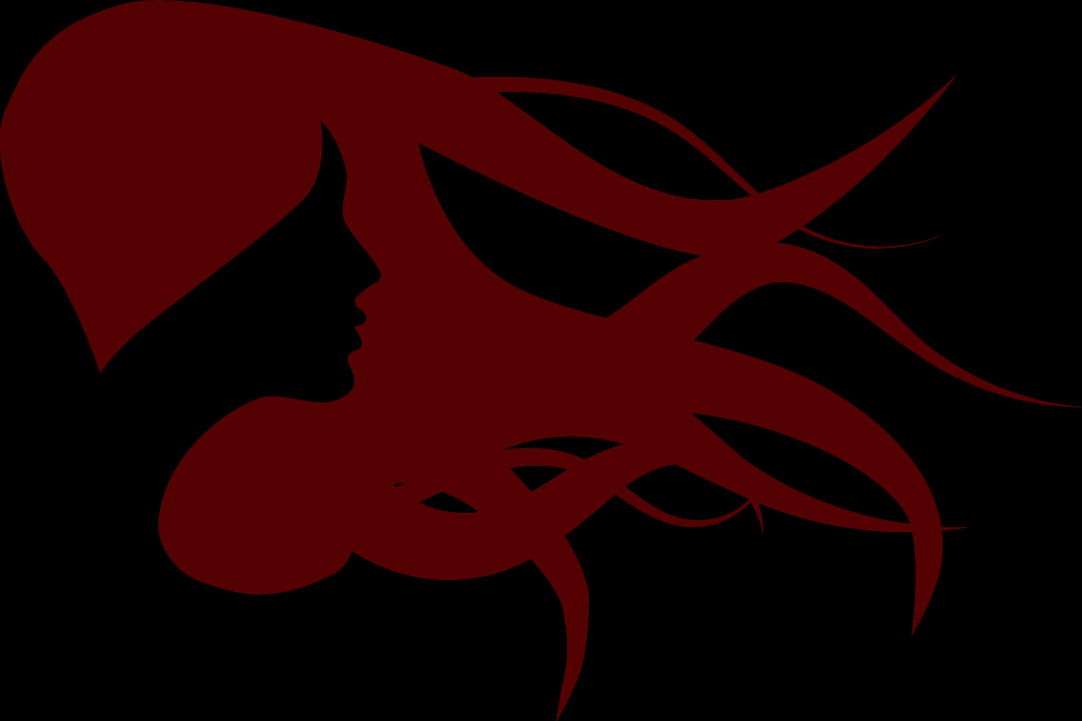 Female silhouette at getdrawings. Clipart girl long hair