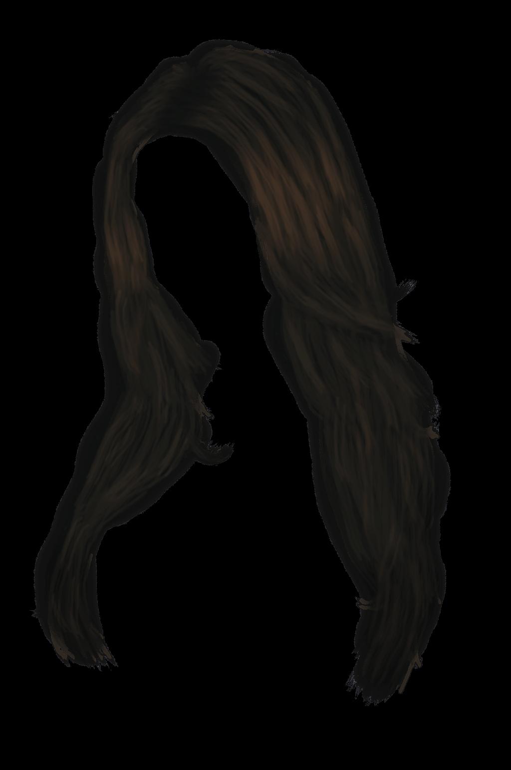 Black women transparent png. Clipart girl long hair