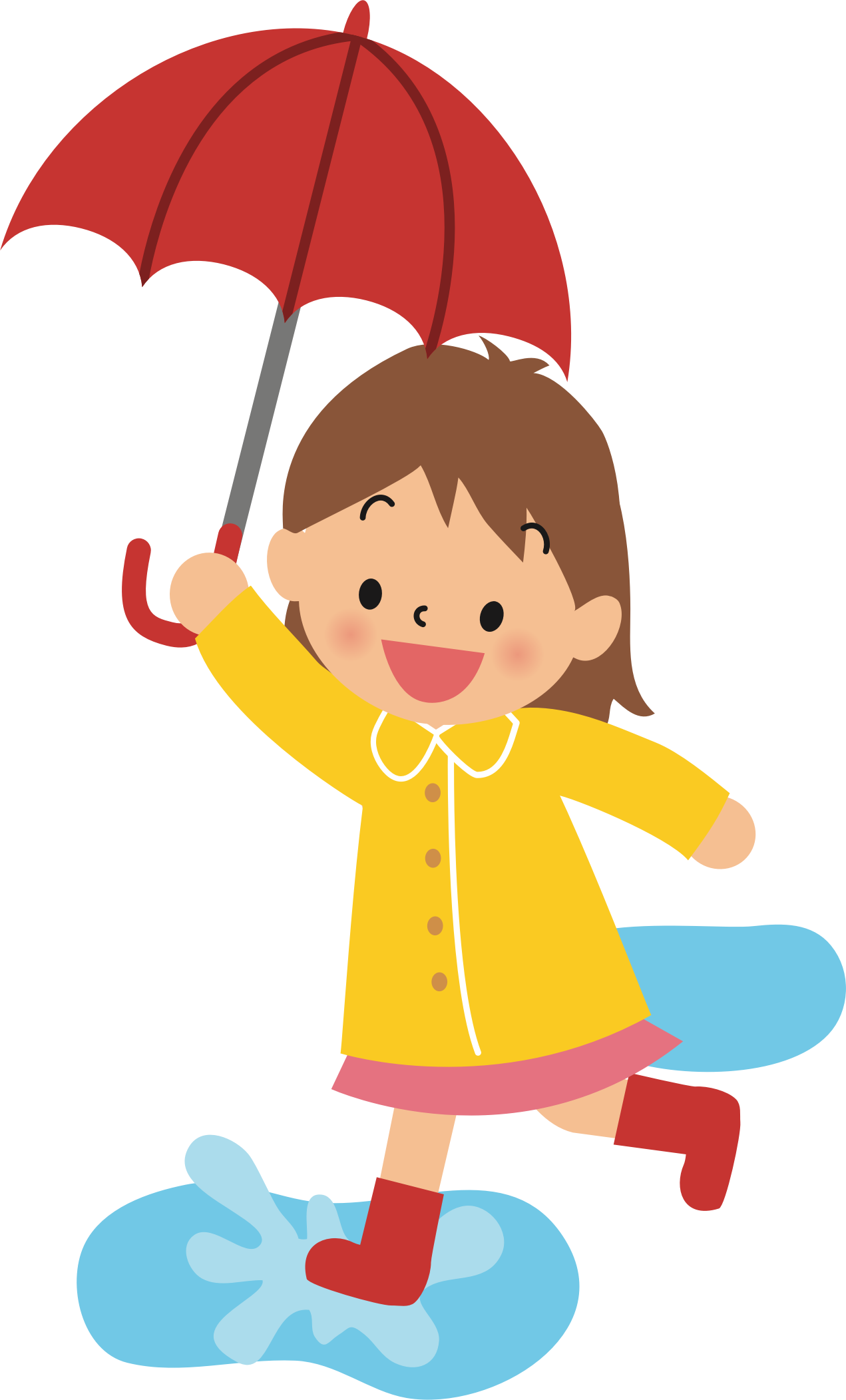 Clipart person cut out. Girl with umbrella silhouette