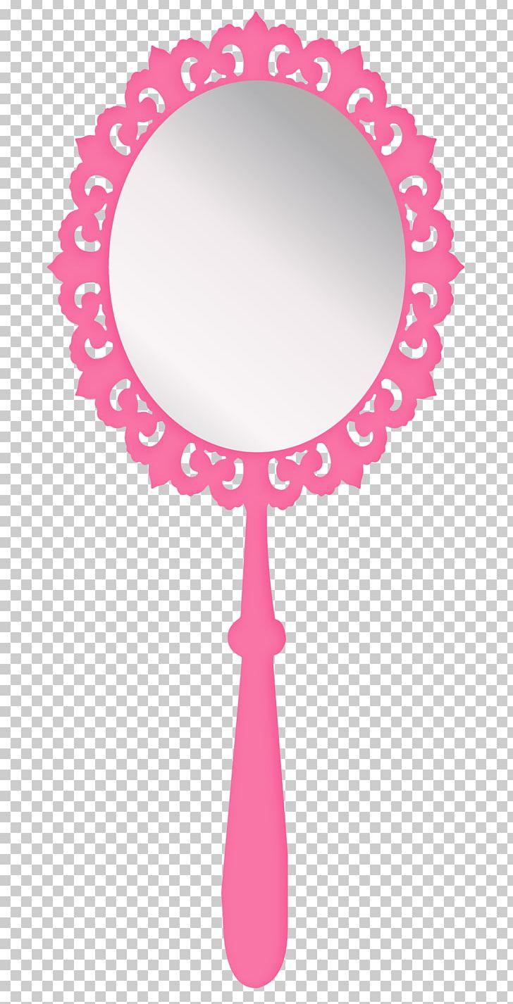 Girl png cartoon circle. Girly clipart mirror
