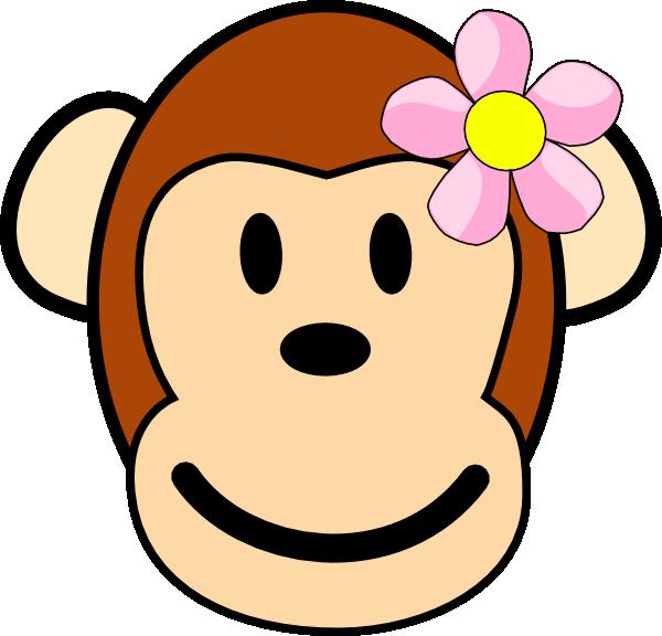 Baby girl monkey clip. Monkeys clipart lady