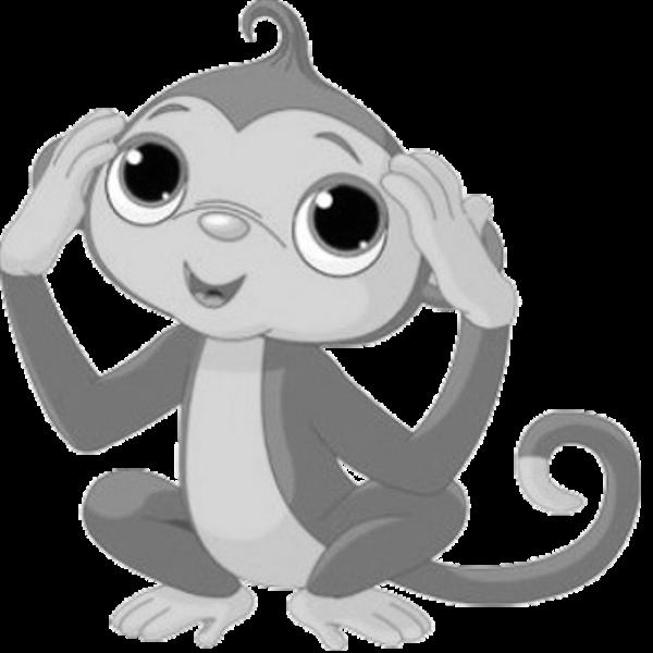Clipart girl monkey. Clipartblack com animal free
