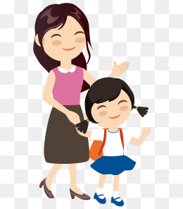 Girl and mom png. Mother clipart momma