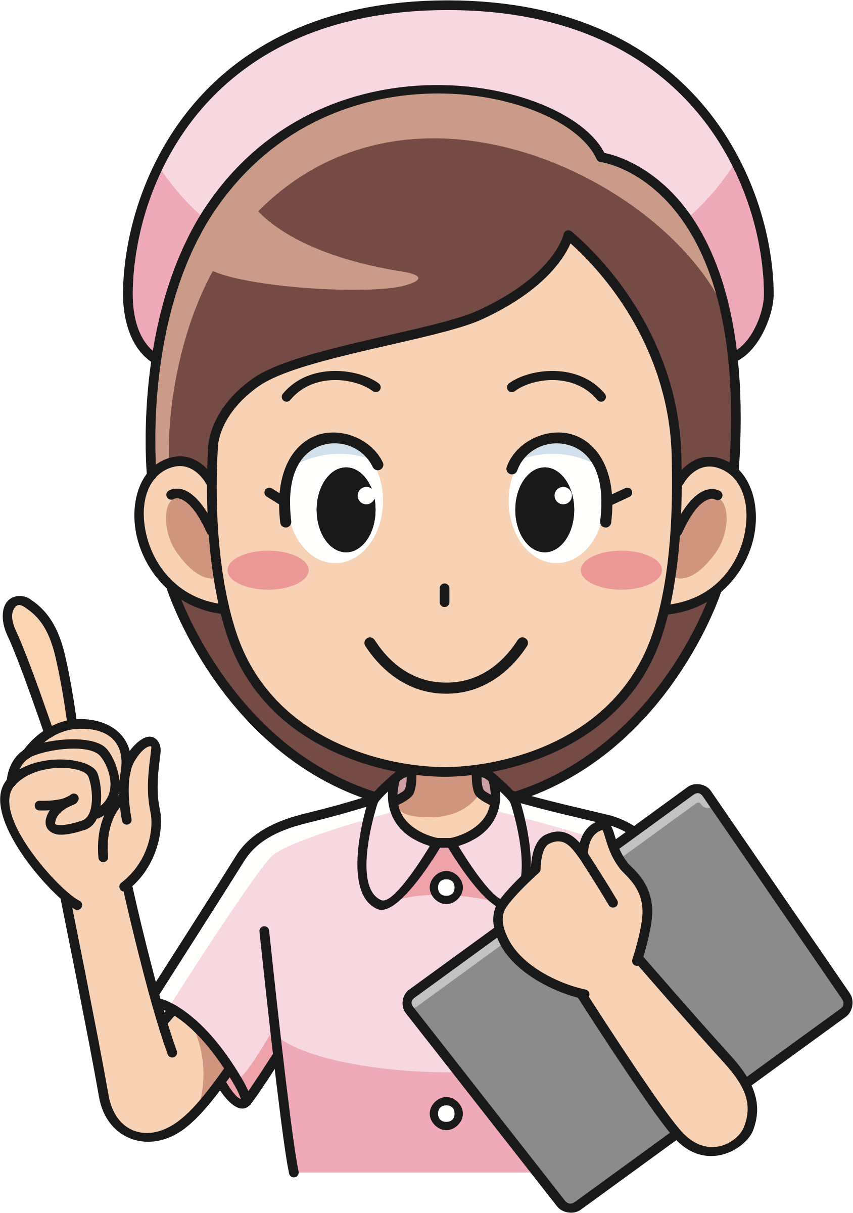 Cheerful big image png. Patient clipart nurse