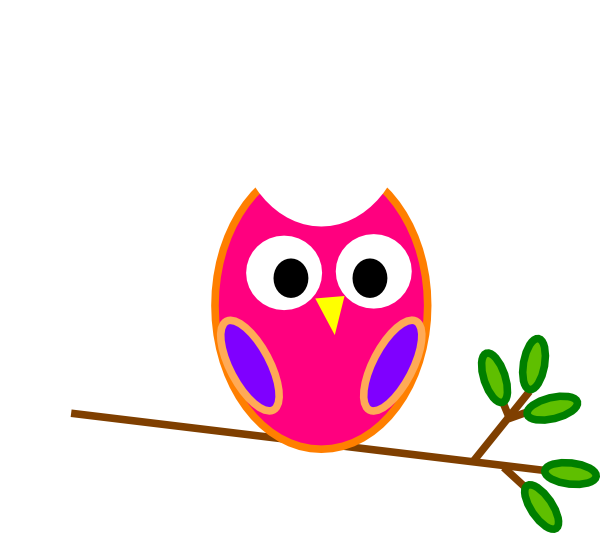Owl clipart orange. Clip art at clker