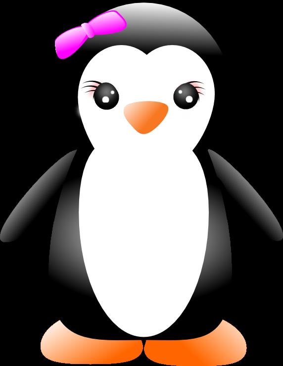 Cartoon penguin images free. Girl clipart penguins