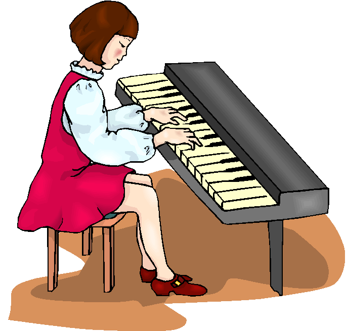 Piano clipart pianist. Free girl keyboard cliparts