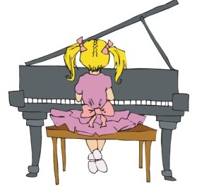 Free keyboard cliparts download. Piano clipart little girl