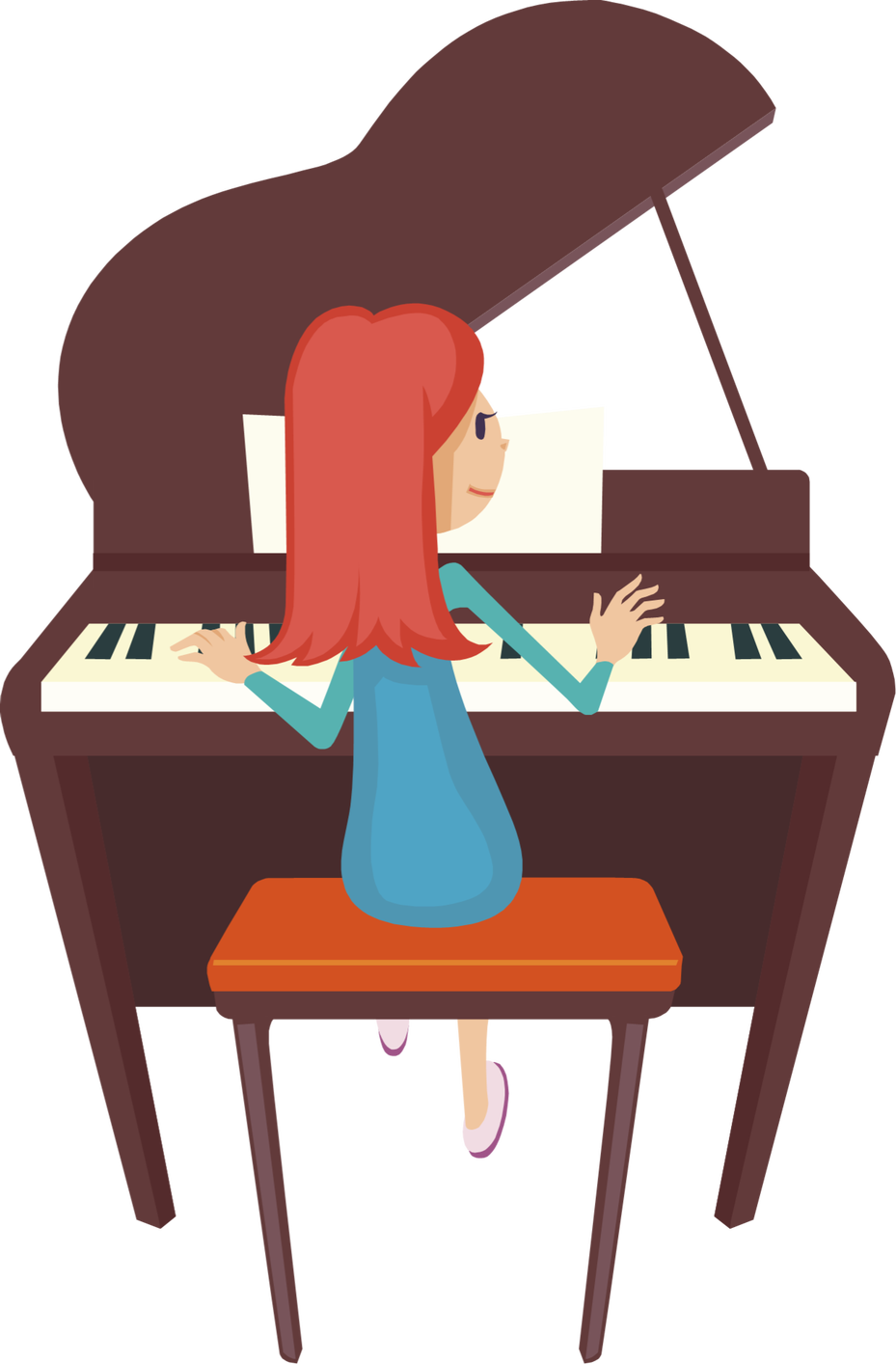 Christ church c of. Piano clipart illustration