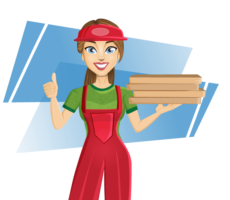 Lady clipart construction.  collection of pizza