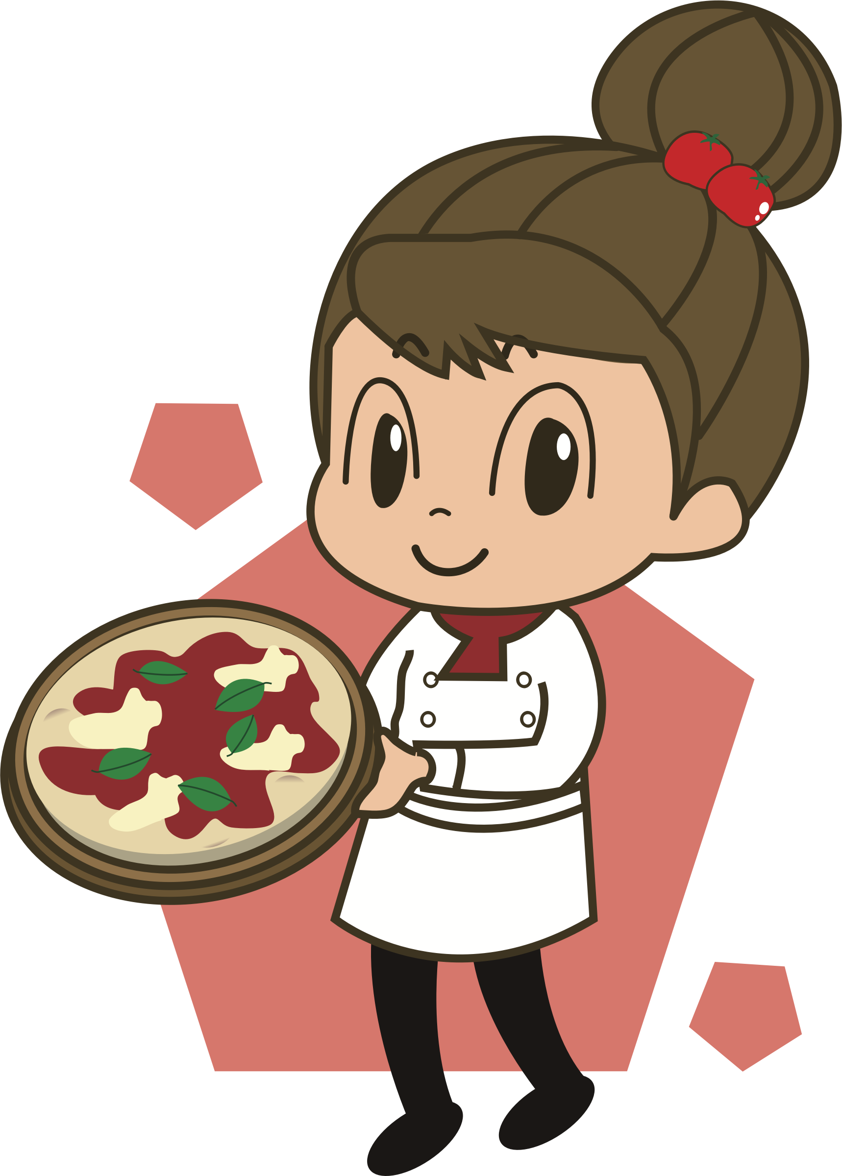 Lady clipart pizza. Big image png