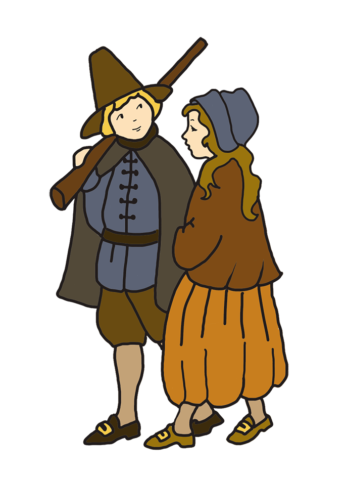 Shy clipart little girl. Happy thanksgiving drawing pilgrim