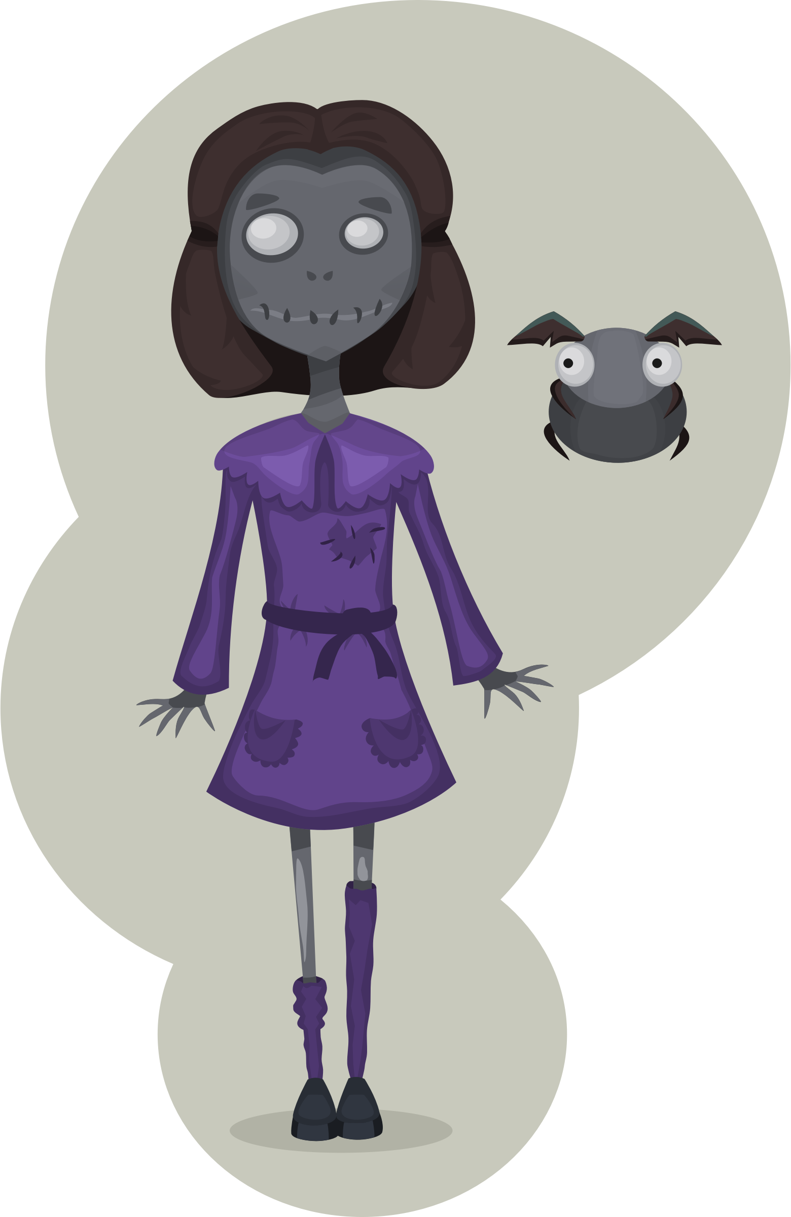 Girl big image png. Zombie clipart female zombie