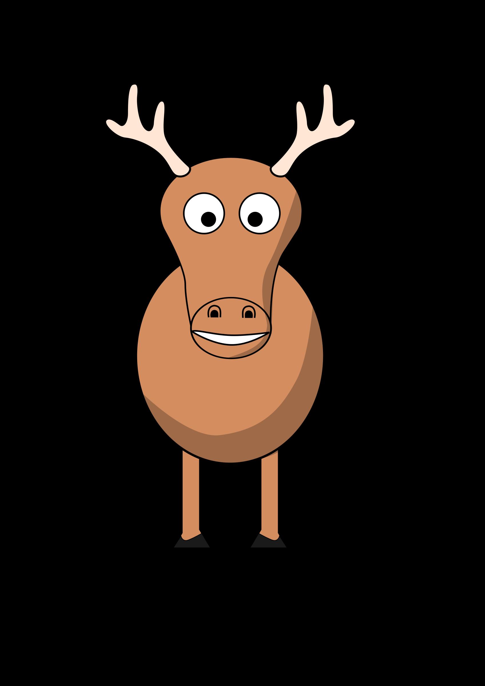 Cartoon big image png. Girls clipart reindeer