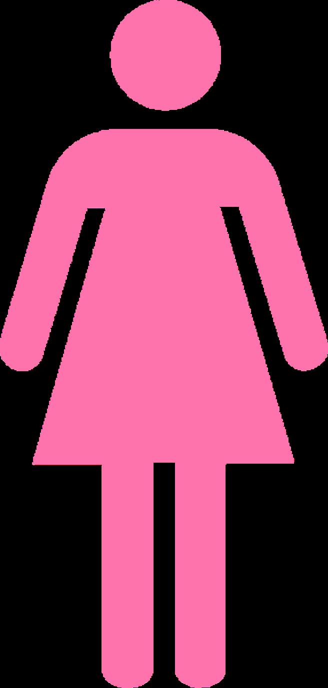 Lady clipart bathroom. Girls signs custom exhaust