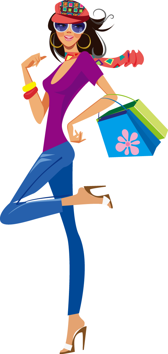 Couple clipart shopping. Girl silhouette at getdrawings