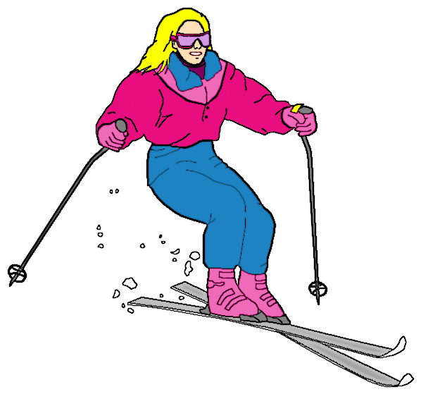Girl clipart skiing. Ski recreation sports png