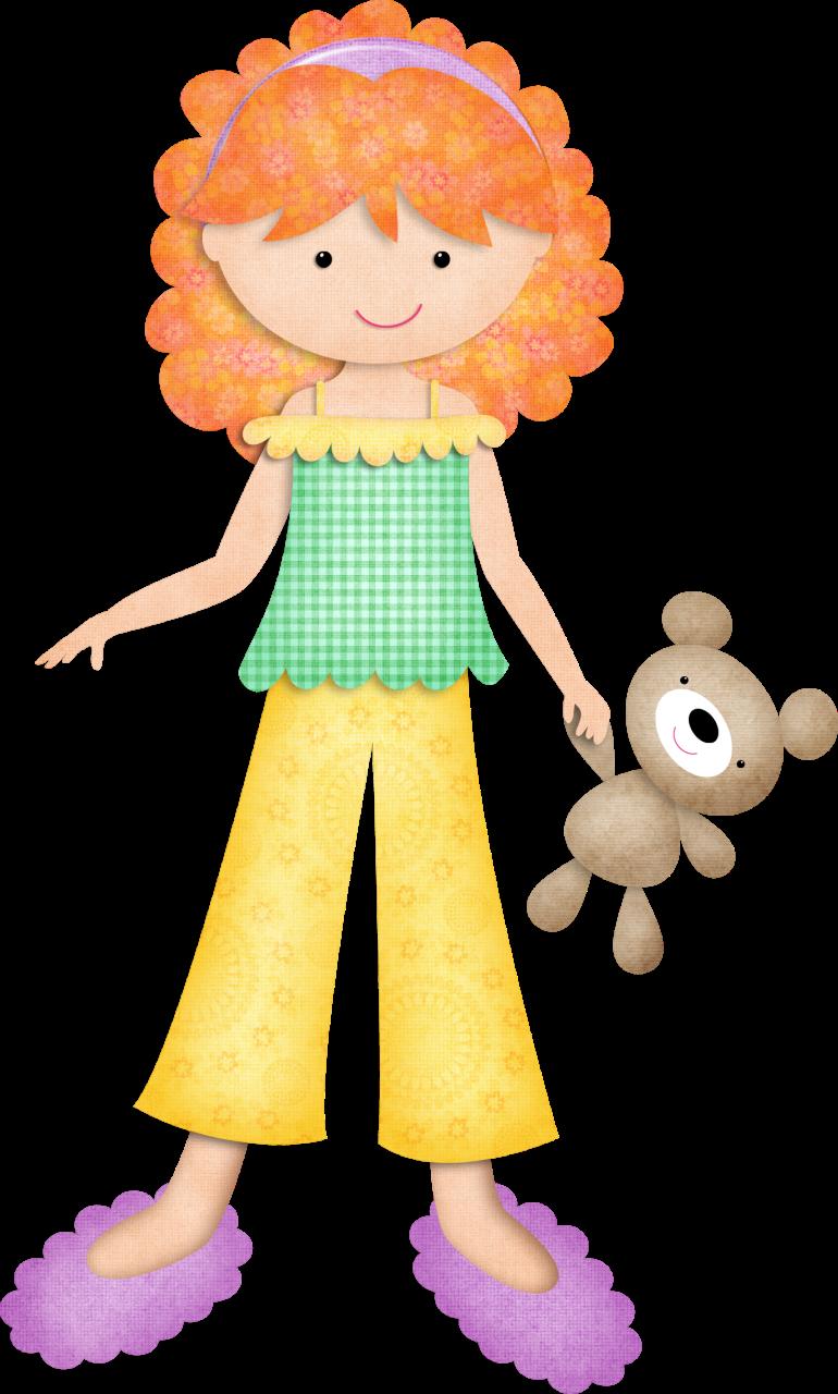 Kmill redheadgirl png pinterest. Pajamas clipart yellow