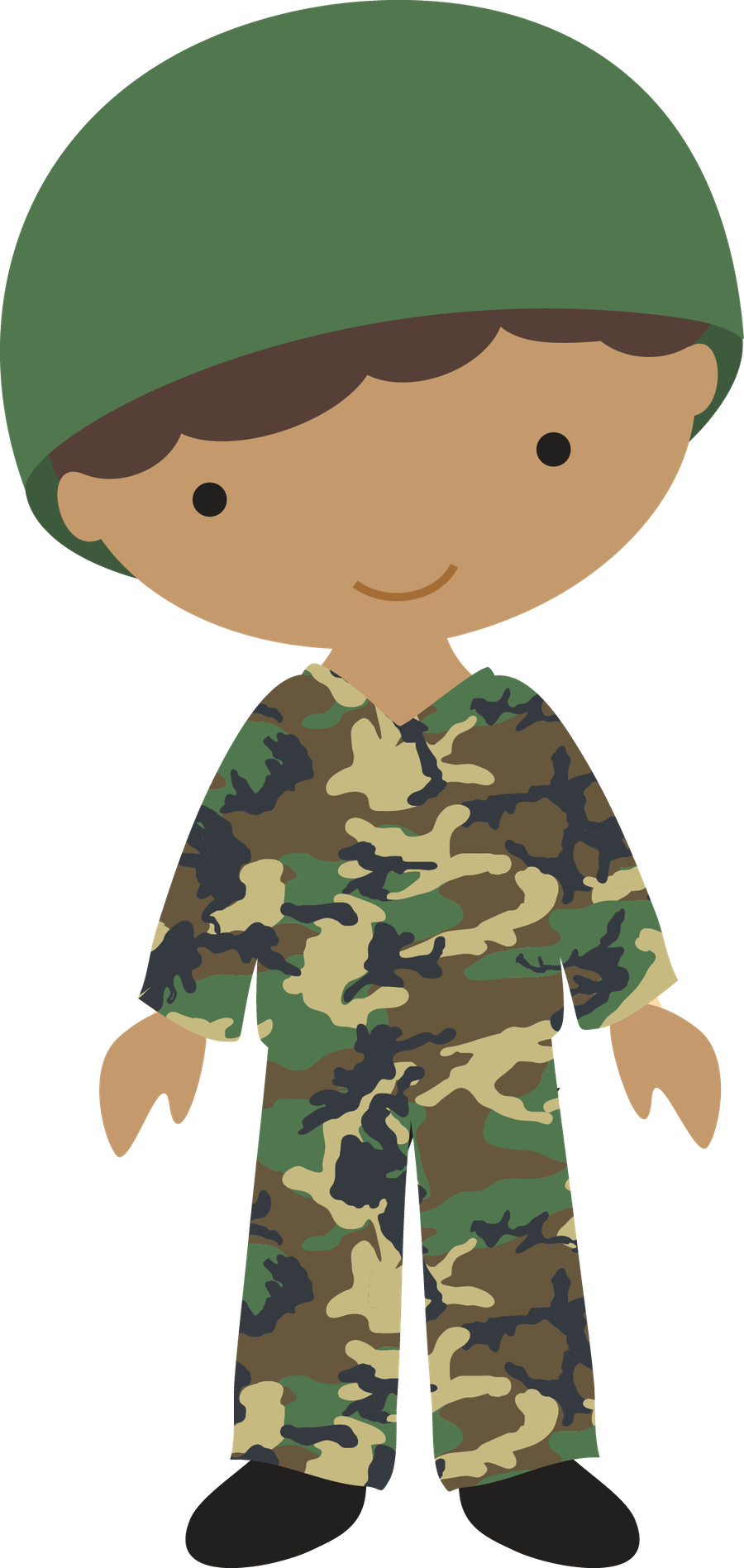 Personagens minus an idea. Soldiers clipart military