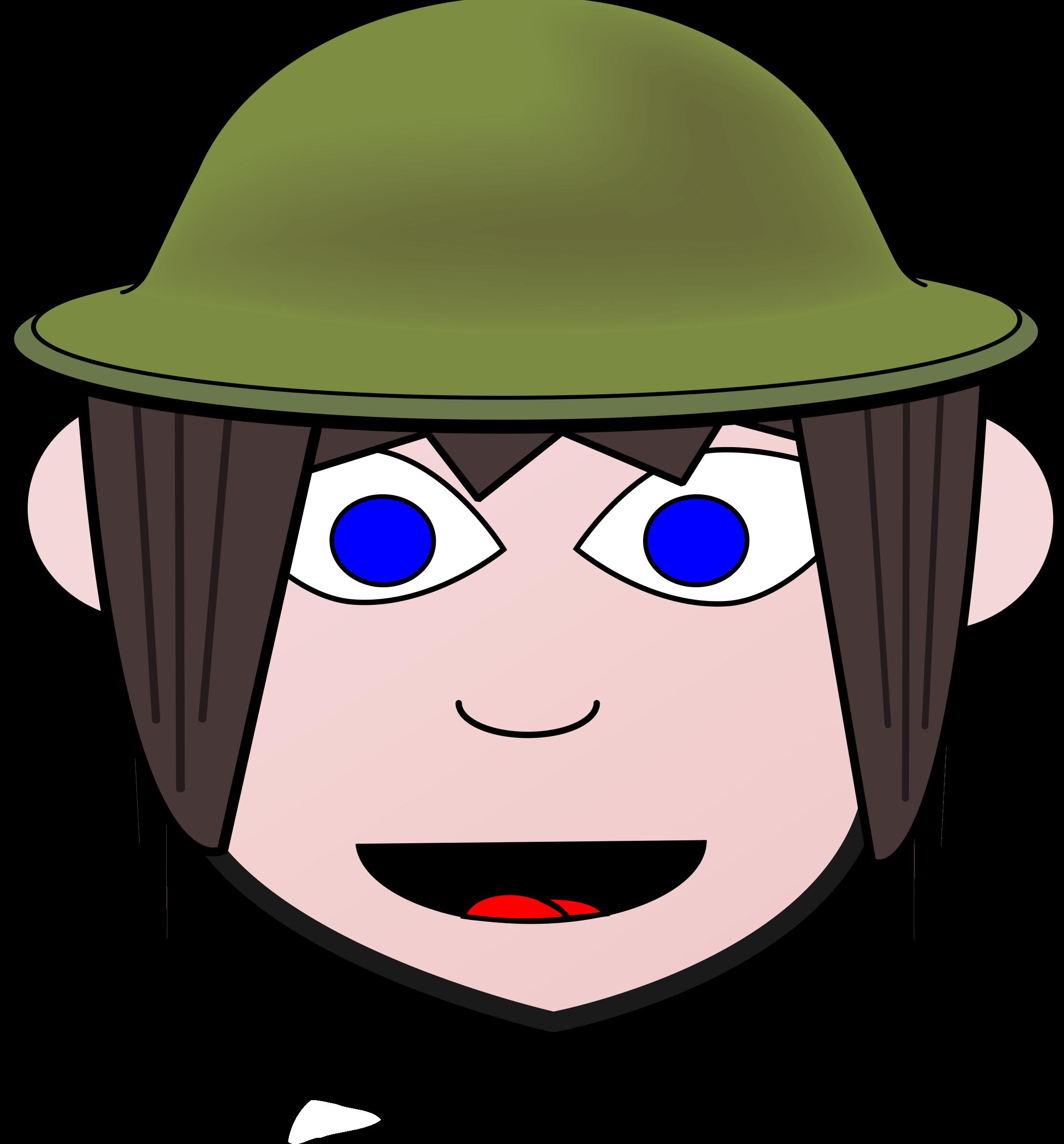 Happy soldier girl big. Soldiers clipart foji