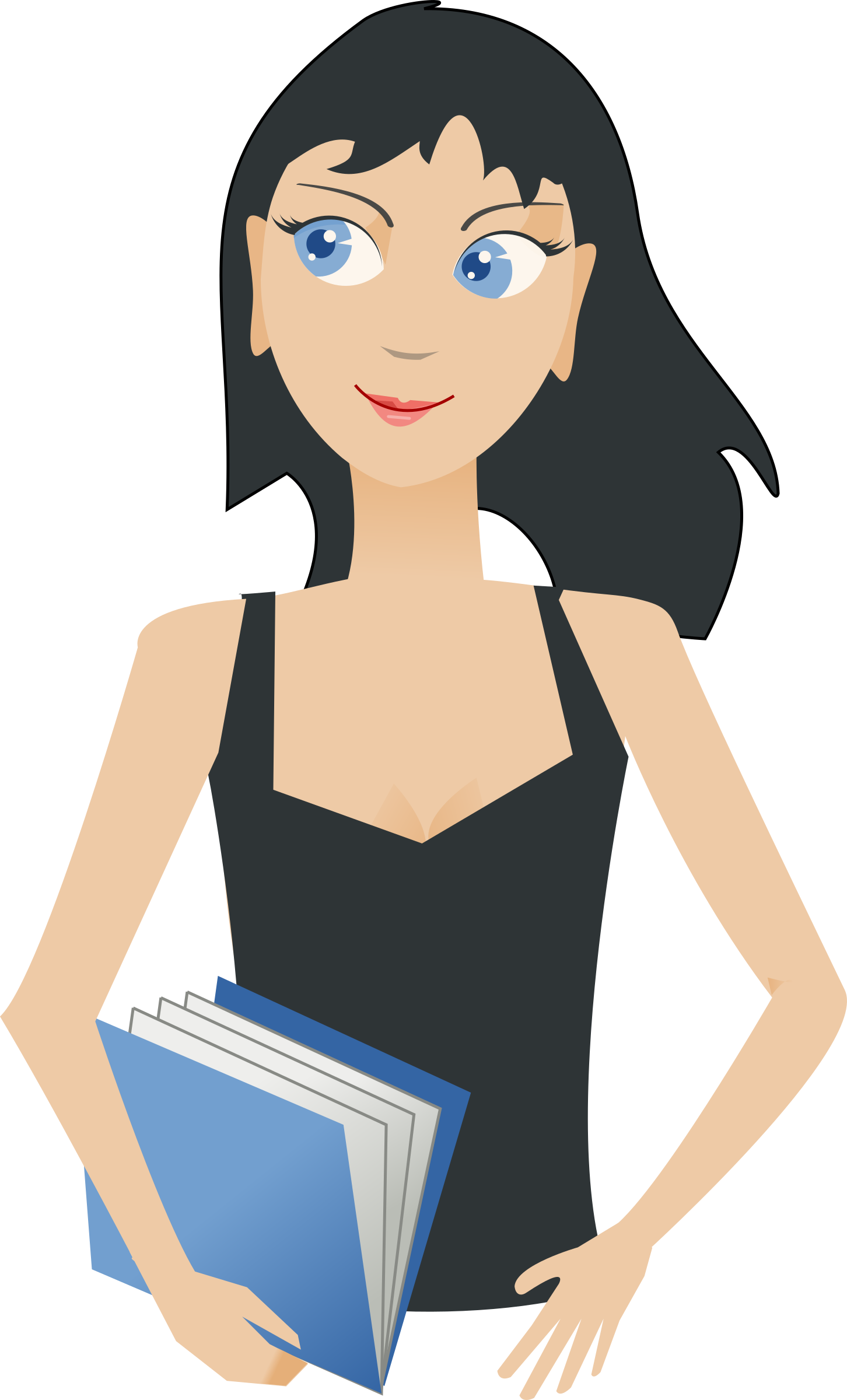 Professional clipart professional student. Girl with book big
