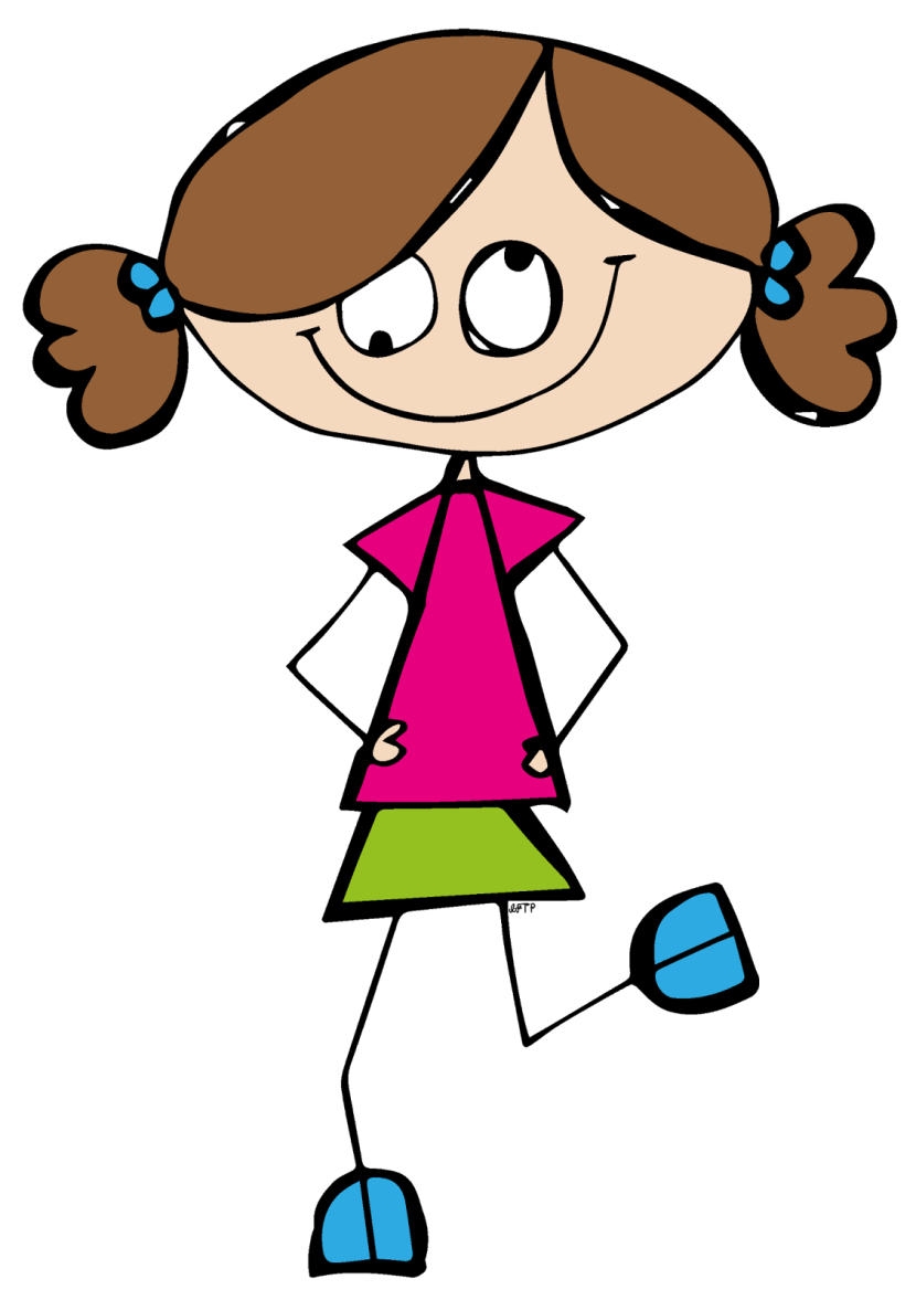 collection of girl. Girls clipart student