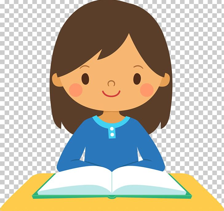Study clipart hit the book. Girl skills student png