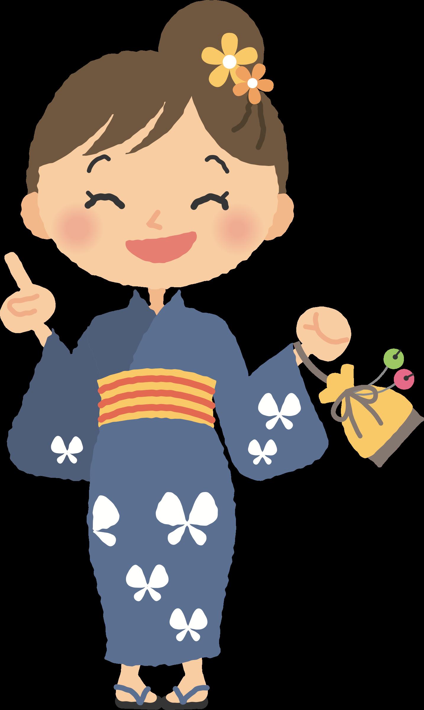 Summer big image png. Clipart panda kimono