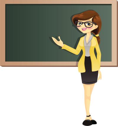 A girl clip art. Clipart teacher cartoon