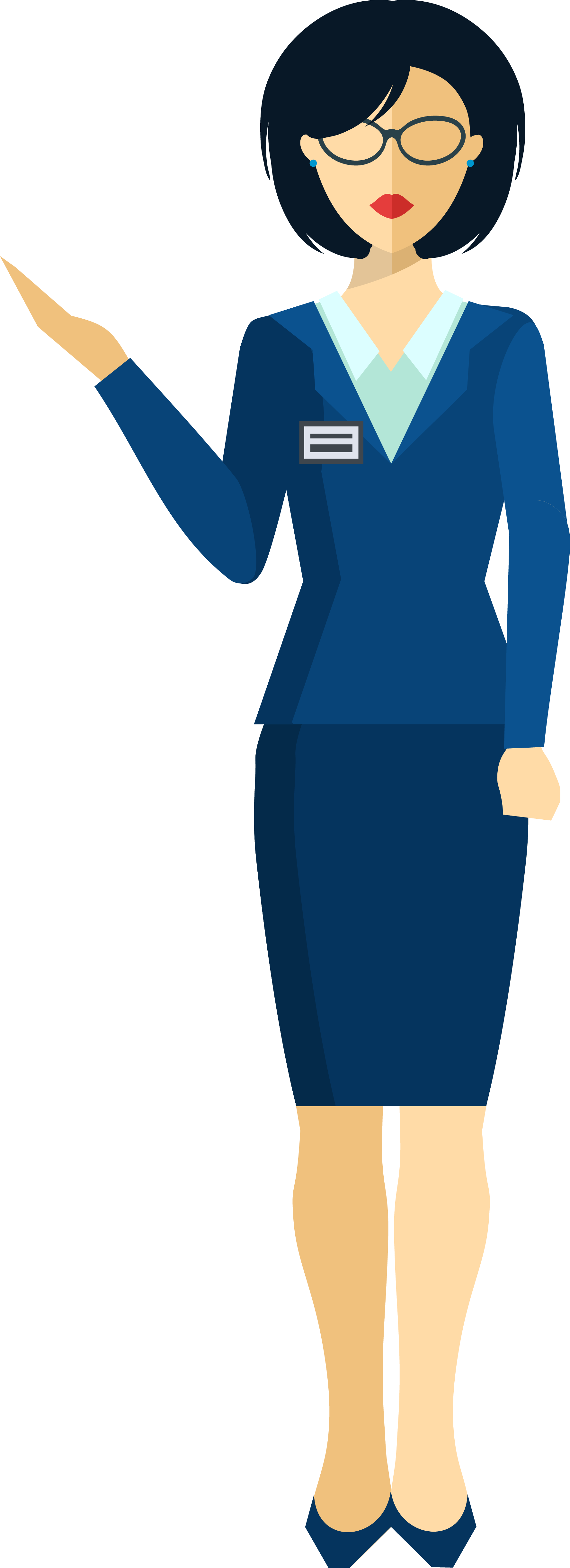 Female clipart tour guide.  collection of png