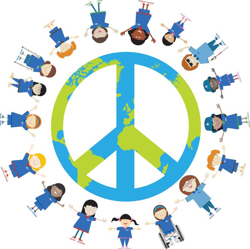 International day of girl. Clipart world world peace