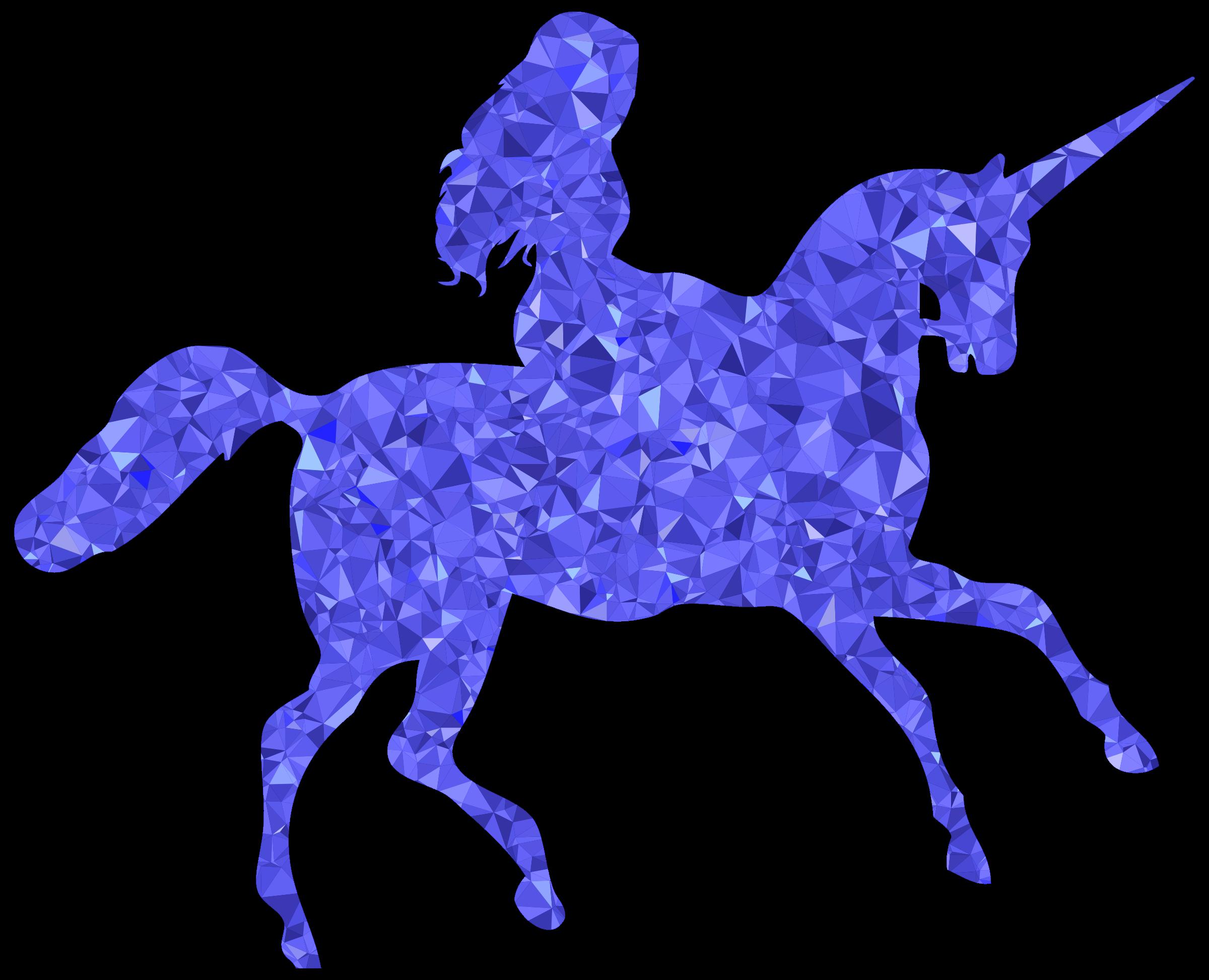 Clipart unicorn blue. Sapphire woman riding big