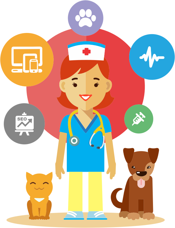 collection of veterinarian. Exercising clipart office