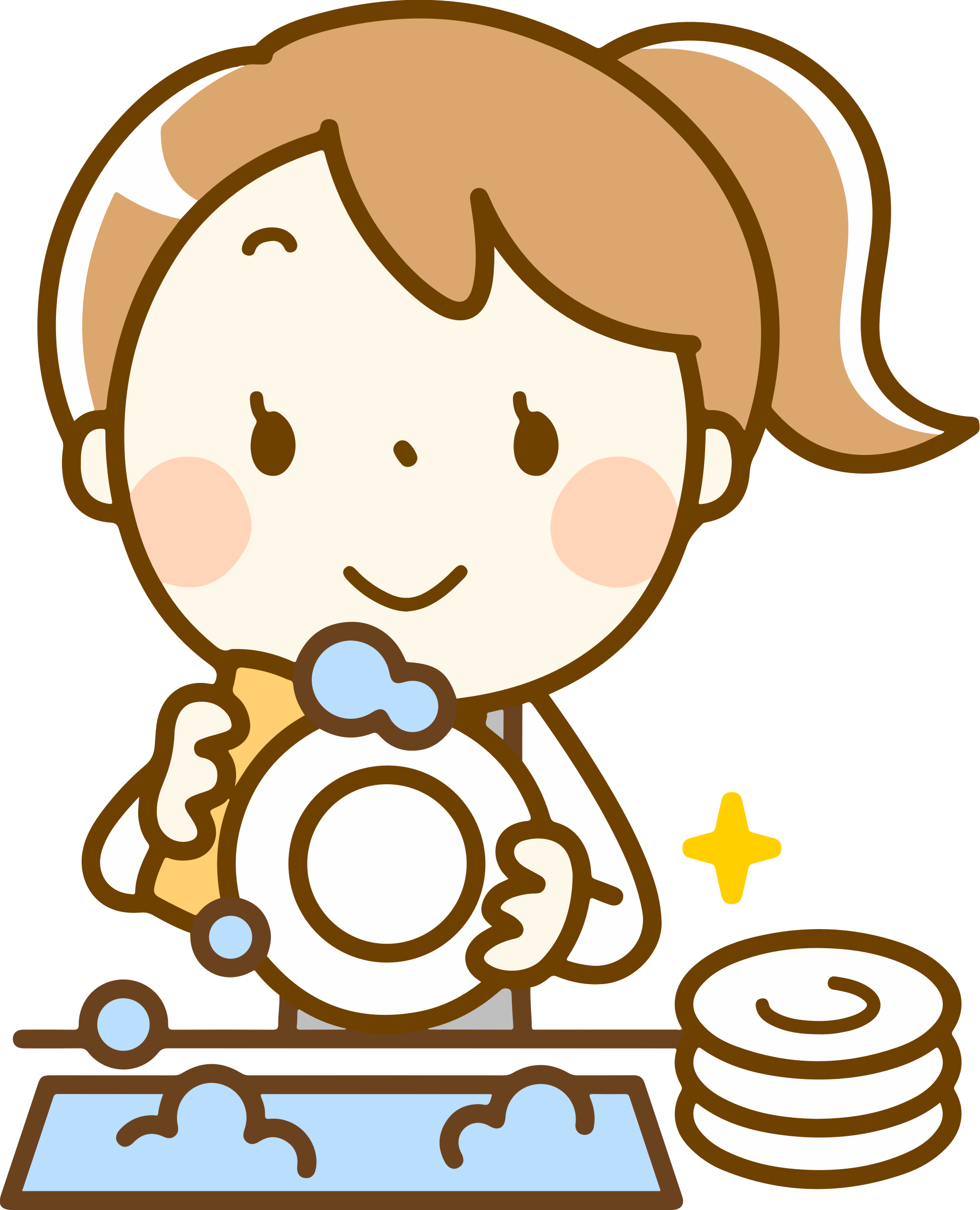 Dishes big image png. Girls clipart washing dish