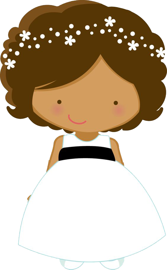Clipart wedding african american. Flower girl bride page
