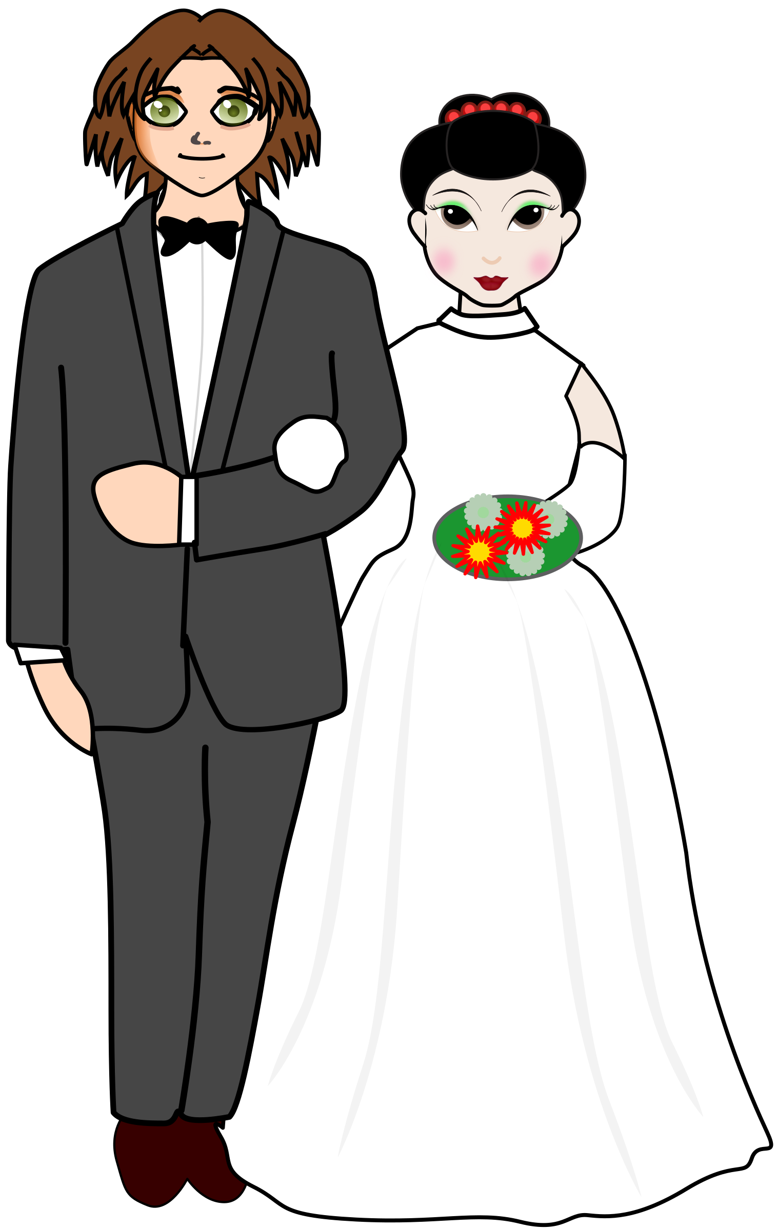 Couple big image png. Clipart wedding person