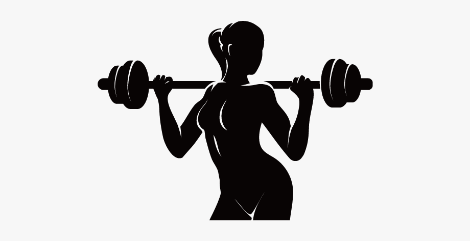 Dumbbells clipart fitness center. Physical logo centre woman