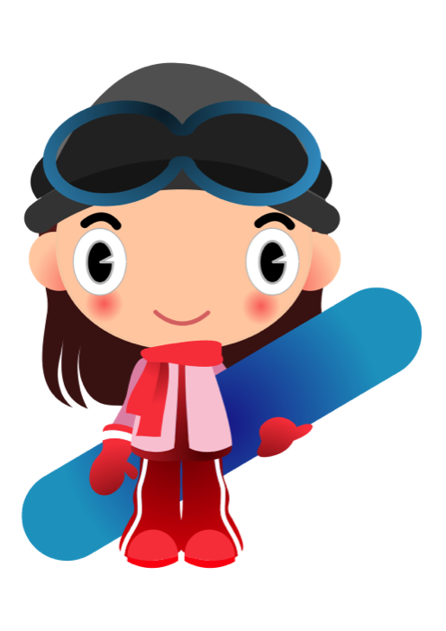 Clipart sports character. Winter snowy scenes other